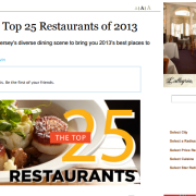 elements named to NJ Monthly Top 25 restaurants of 2013
