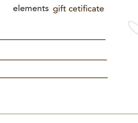 elements gift certificate